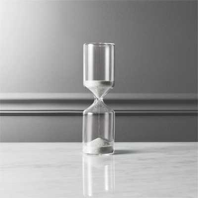 15-minute black and white hour glass - CB2