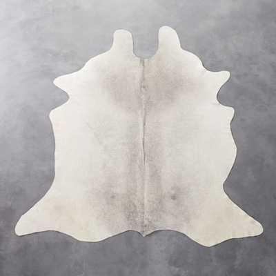 cowhide grey rug 5'x8' - CB2