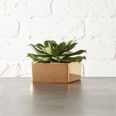 "FAUX POTTED SUCCULENT WITH COPPER POT 3"" - CB2"
