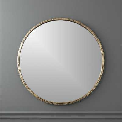 """tork brass dripping 30"""" wall mirror"" - CB2"