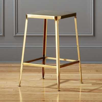 """""""flint gold 24"""""""" counter stool"""" - CB2"""