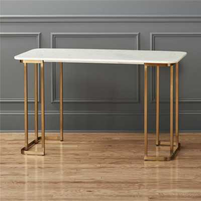 dahlia marble desk - CB2