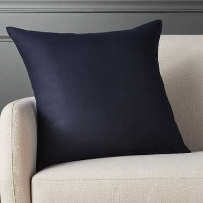 """20"""" linon navy pillow with feather-down insert - CB2"""