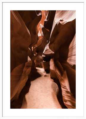 Antelope Canyon - 28x40 - White frame with mat - Artfully Walls