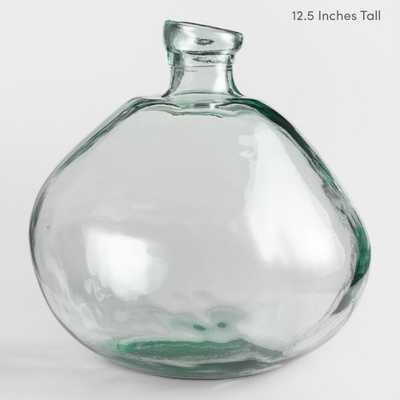 "Clear Barcelona Vases - 12.5""H - World Market/Cost Plus"