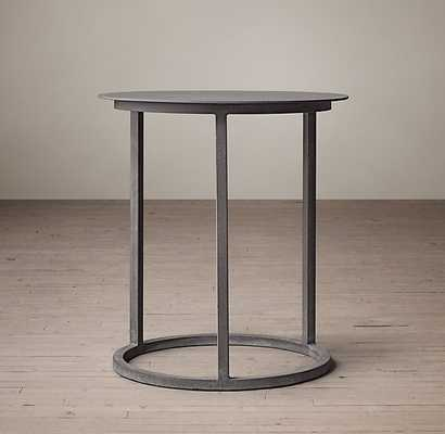 "MERCER ROUND SIDE TABLE - Zinc - 18""diam. - RH"