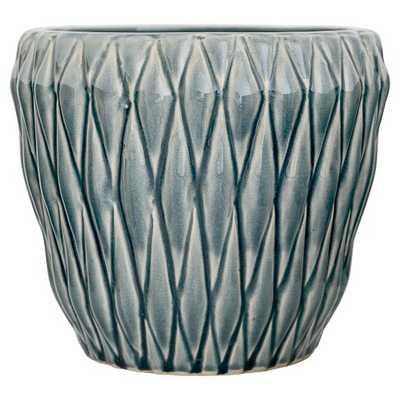 "Ceramic Flower Pot - Blue (8"") - 3R Studios - Target"