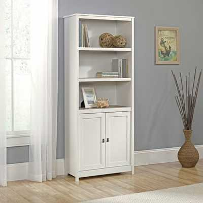 Sauder Cottage Road Library Bookcase with Doors - Hayneedle