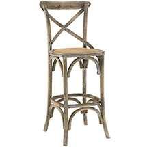 GEAR BAR STOOL IN GRAY - Modway Furniture