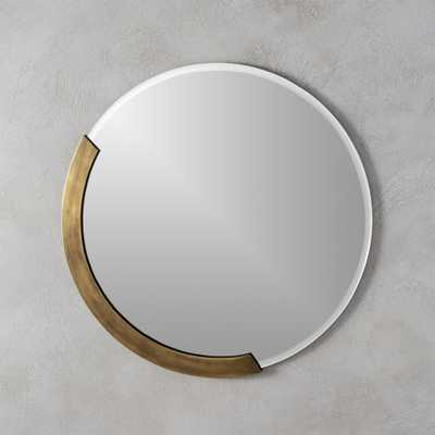 "kit 24"" round mirror - CB2"