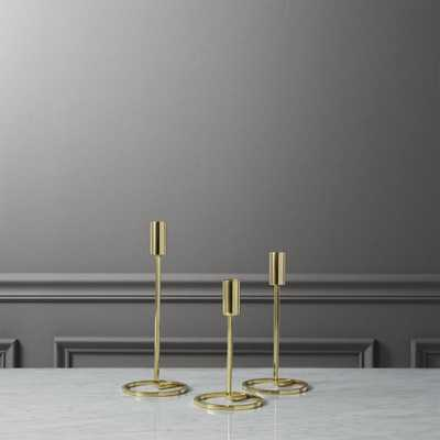 3-piece roundabout taper candle holder set - CB2