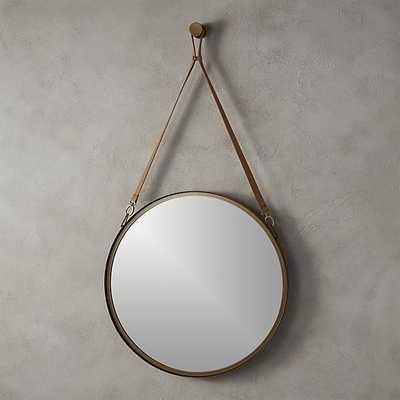"victor leather 24"" mirror - CB2"