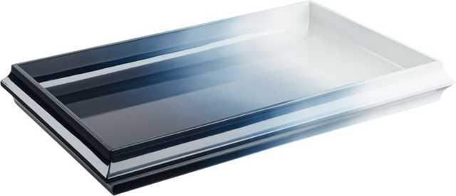 fedo ombre blue lacquer tray - CB2