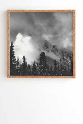 "MOUNTAIN MAJESTY - 30"" x 30"" -Bamboo Frame - Wander Print Co."