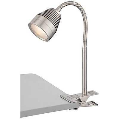 Lite Source Nobu LED Steel Gooseneck Clip-On Desk Lamp - Lamps Plus