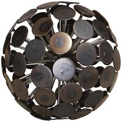 Dandelion Bronze Black Decorative Orb - Lamps Plus