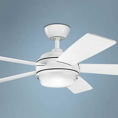 "52"" Kichler Starkk Matte White Ceiling Fan - Lamps Plus"