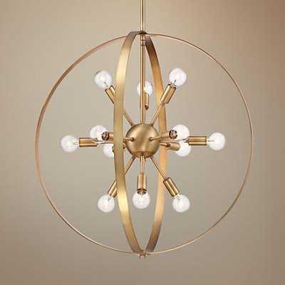 "Savoy House Marly 24 1/2""W Warm Brass 12-Light Chandelier - Lamps Plus"