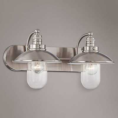 """Downtown Edison 18 1/2"""" Wide Brushed Nickel Bathroom Light - Lamps Plus"""