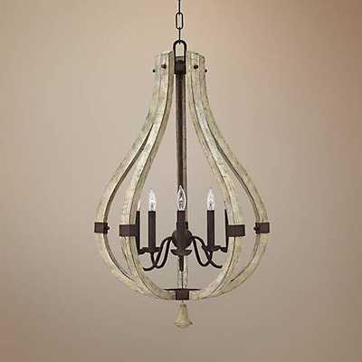 """Fredrick Ramond Middlefield 20"""" Wide Rustic Chandelier - Lamps Plus"""