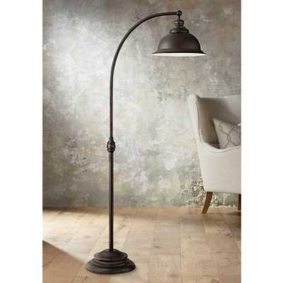 Wyatt II Dark Bronze Arc Floor Lamp - Lamps Plus