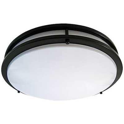 """Zaire Bronze 10"""" Wide Flushmount LED Ceiling Light - Lamps Plus"""