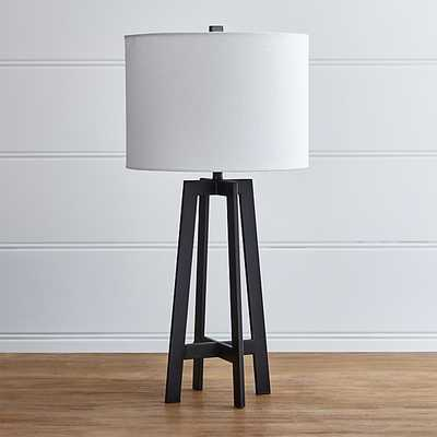 Castillo Black Table Lamp - Crate and Barrel