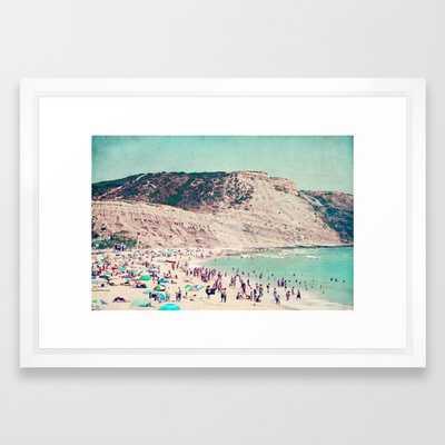 "Beach Love - 15"" x 21"" Vector white frame - Society6"