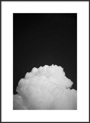 "Black Clouds II - 22x30"" - Matte Black Metal Frame with Matte - Artfully Walls"