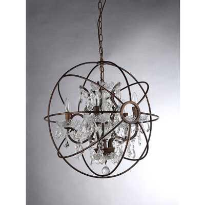 Planetshaker II 6-Light Antique Bronze Chandelier - 32'' - Home Depot