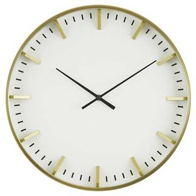 """Raised Marker 16"""" Wall Clock White/Brass - Project 62 - Target"""