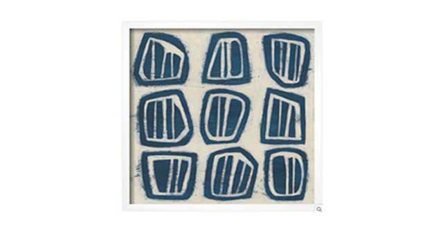 INDIGO SIGNALS III - framed art print Neuhaus White - art.com