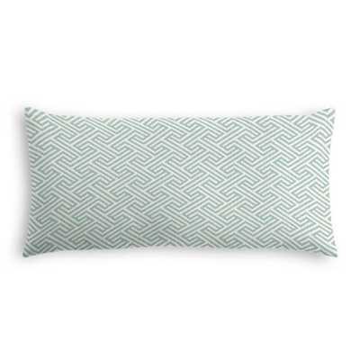 Lumbar Throw Pillow  Labyrinth - Surf - Down Insert - Loom Decor