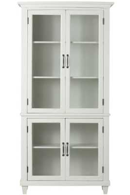 Martin Glass Bookcase - Ivory - Home Depot