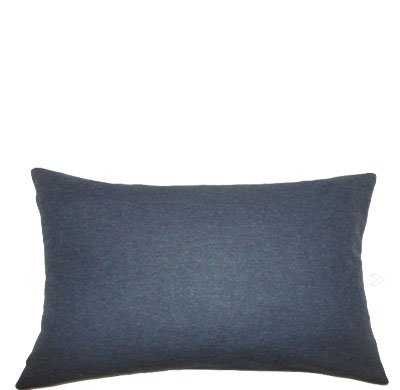 "Oisin Solid Pillow Blue - 12"" x 18-Polyester Insert - Linen & Seam"