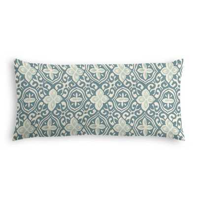 Lumbar Throw Pillow - Less is Moorish, Harbor; Down Insert - Loom Decor