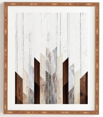 "GEO WOOD 3 Framed Wall Art -11""x13"" - Wander Print Co."