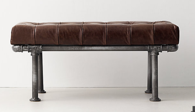 Finlay Leather Bench - RH Teen