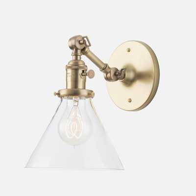 "Princeton Mid Sconce 2.25"" - Natural brass - Schoolhouse Electric"