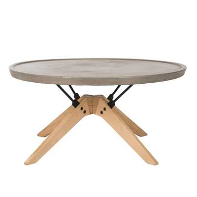 Bryson Modern Concrete Round Coffee Table - Arlo Home