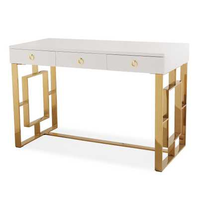 Lillian White Lacquer Desk - Maren Home