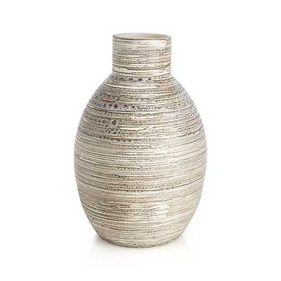Cove Tall Circular Vase - Crate and Barrel