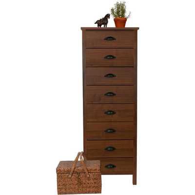 Venture Horizon 'Nouvelle' Walnut Finish 8-drawer Lingerie Bureau Dresser - Overstock
