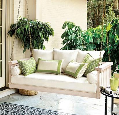 Sunday Porch Swing - White Wash - Ballard Designs
