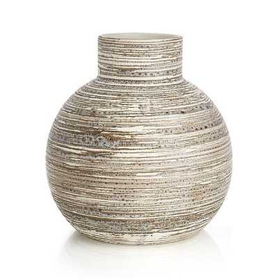 Cove short Circular Vase - Crate and Barrel