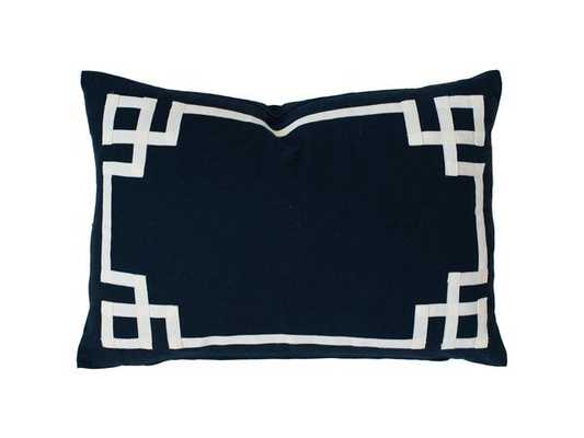 "Navy Deco Pillow - 14""x20"" - Insert Sold Separately - Caitlin Wilson"