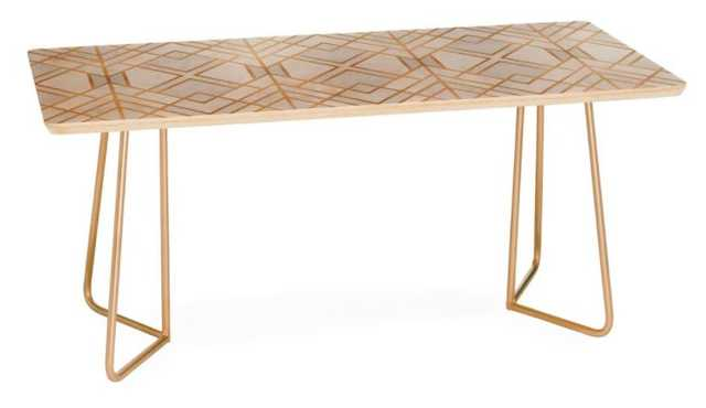 Golden Geo Coffee Table - Gold hairpin - Wander Print Co.