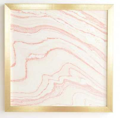 """BLUSH MARBLE Wall Art - 30 x 30"""" - weather grey - With mat - Wander Print Co."""