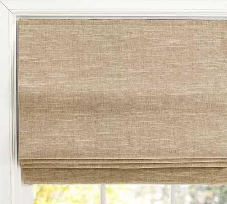 "Emery Linen/Cotton Cordless Roman Shade, 36 x 64"", Oatmeal - Pottery Barn"