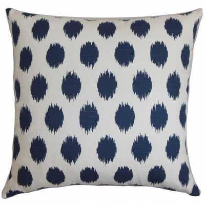 """Juliaca Ikat Pillow Navy Blue 18""""x18"""" - Linen & Seam"""